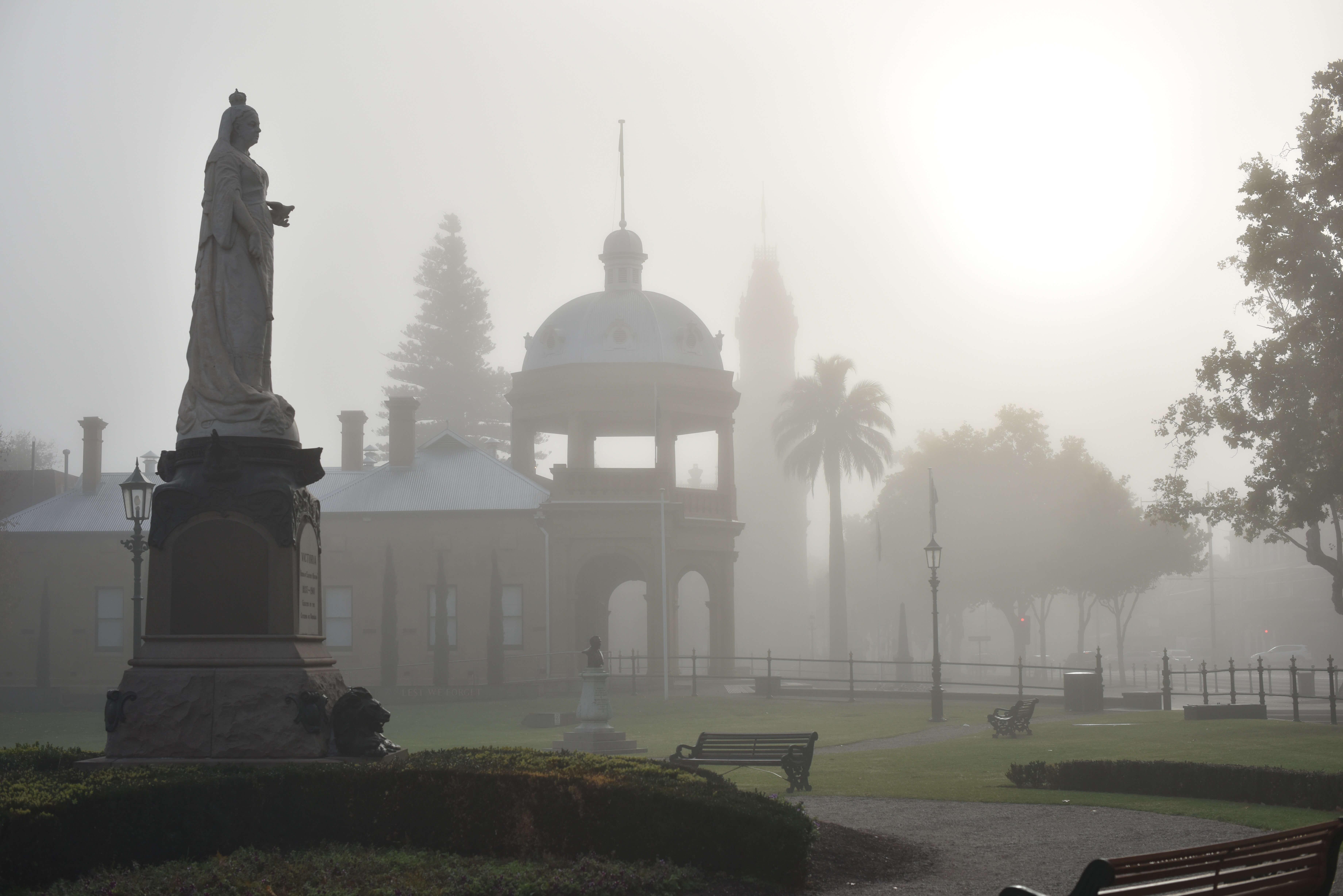 Queen Victoria Monument in Rosalind Park, Bendigo