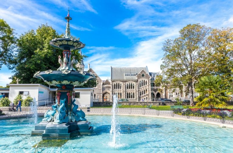 Central Christchurch in Canterbury