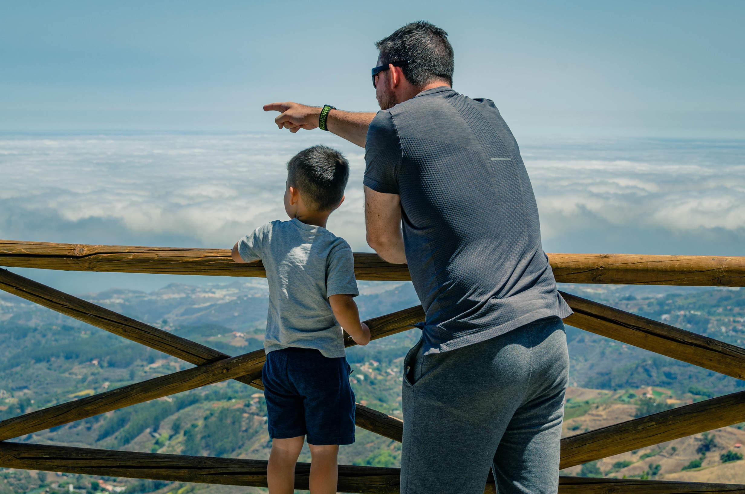 Father and son at Mirador de Pinos de Galdar