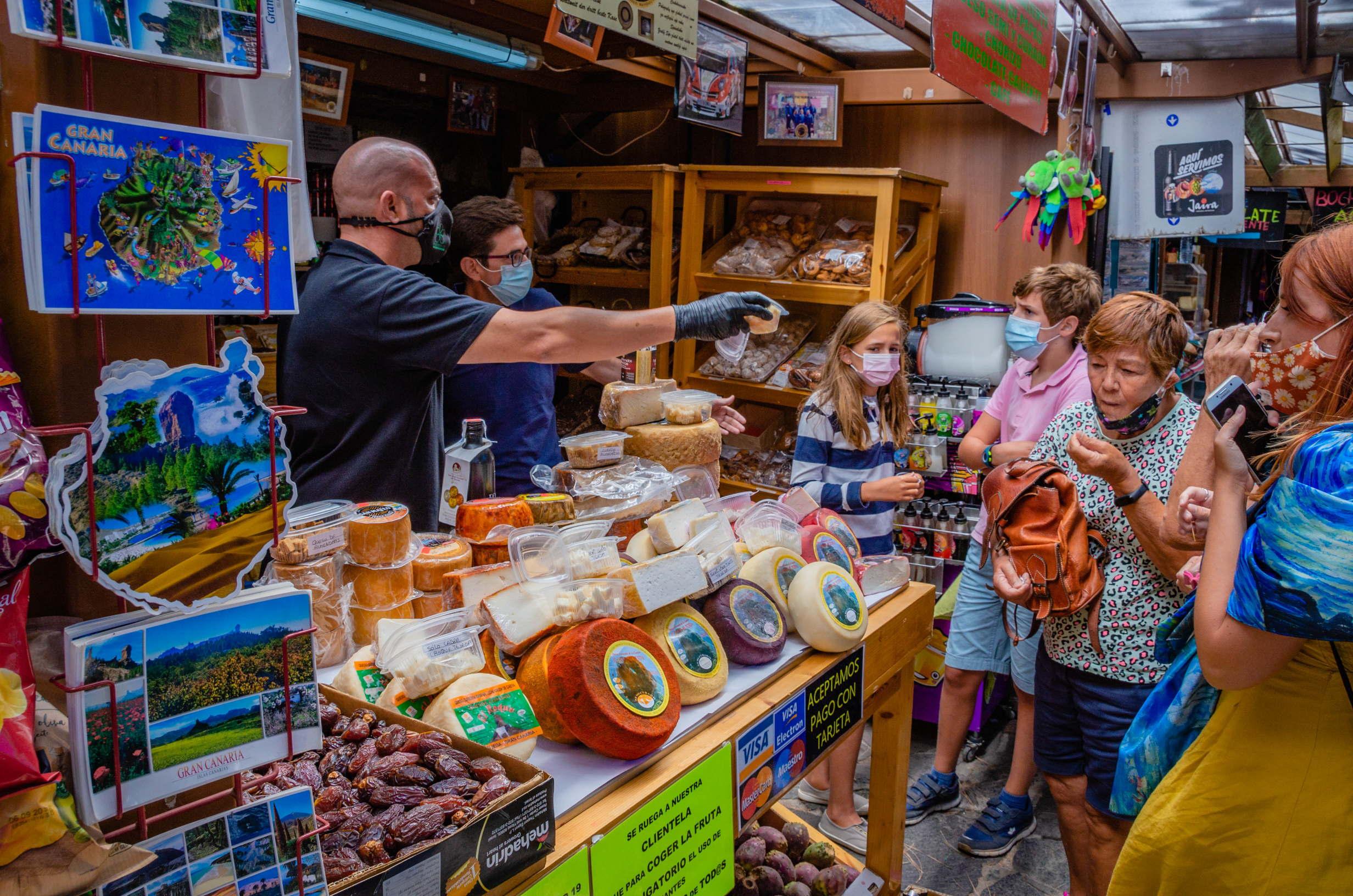 Local market in Tejeda