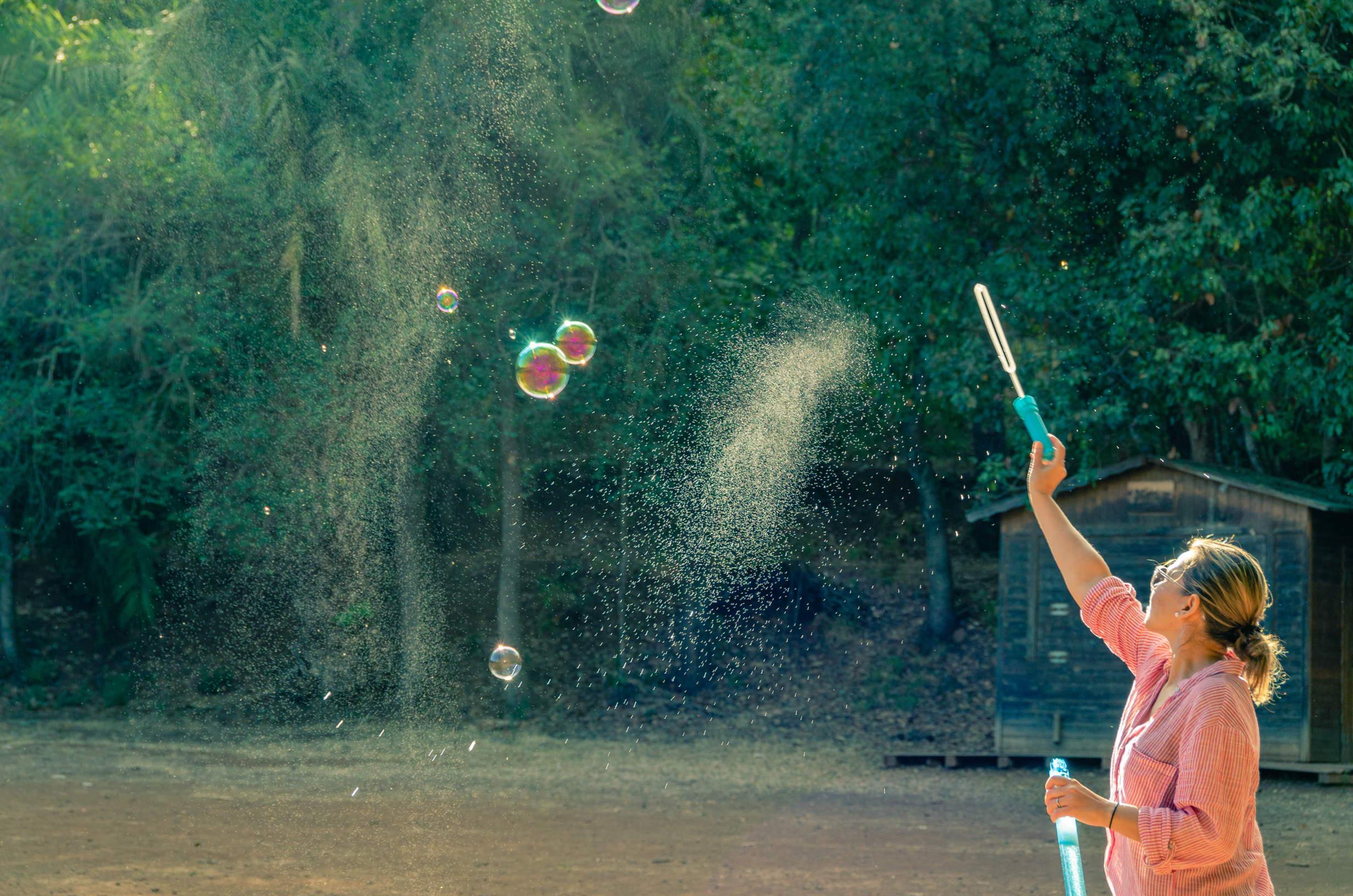 Woman having fun at Finca de Osorio