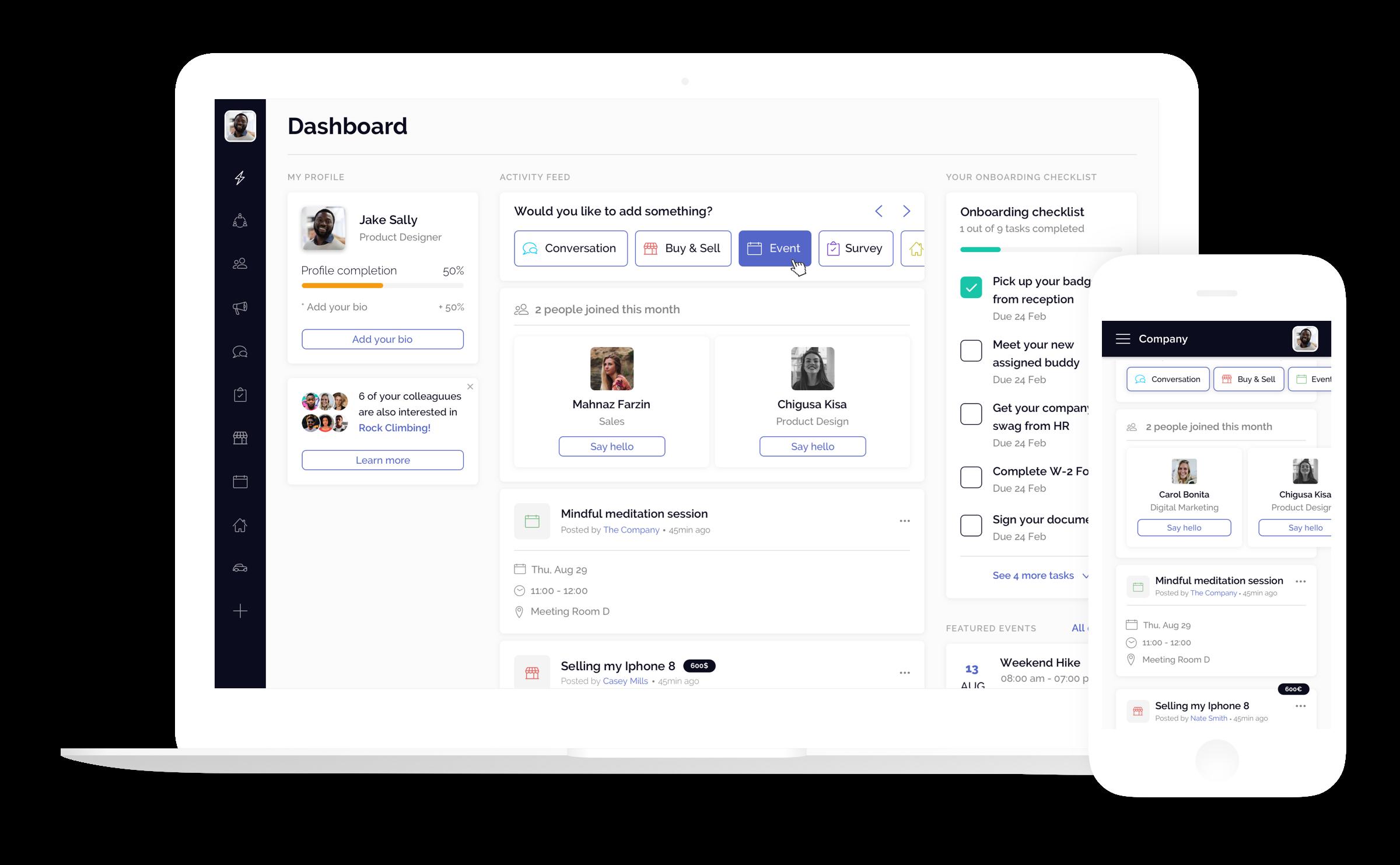 Office Accord platform on desktop and mobile
