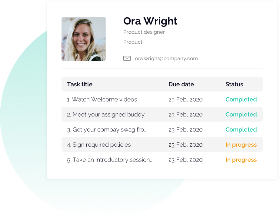 OfficeAccord Checklist progress tracking