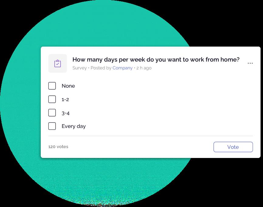 OfficeAccord employee survey card