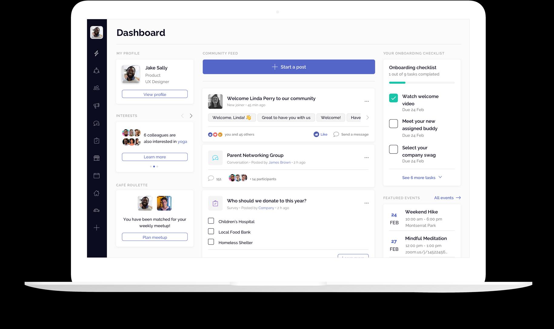OfficeAccord main Dashboard interface