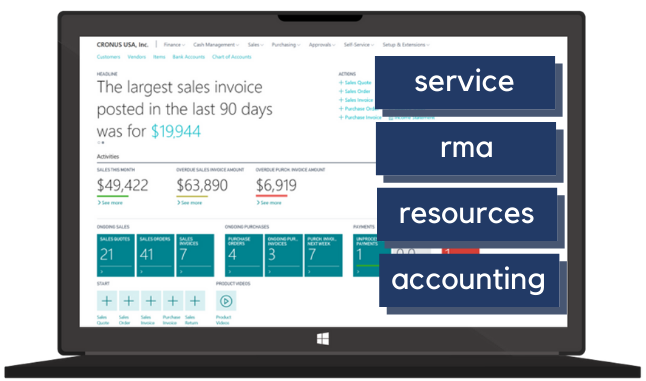 Service Management in Microsoft Business Central