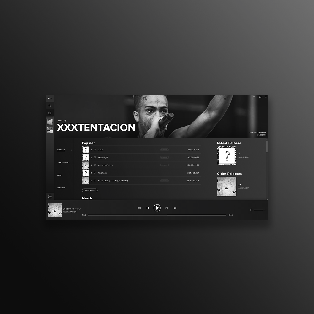 Screen from spotify rebrand