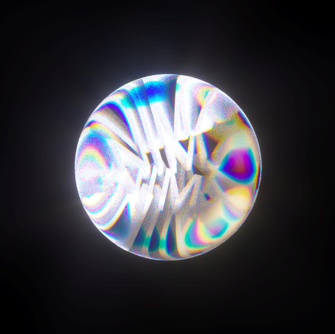 Glass sphere with refractive properties