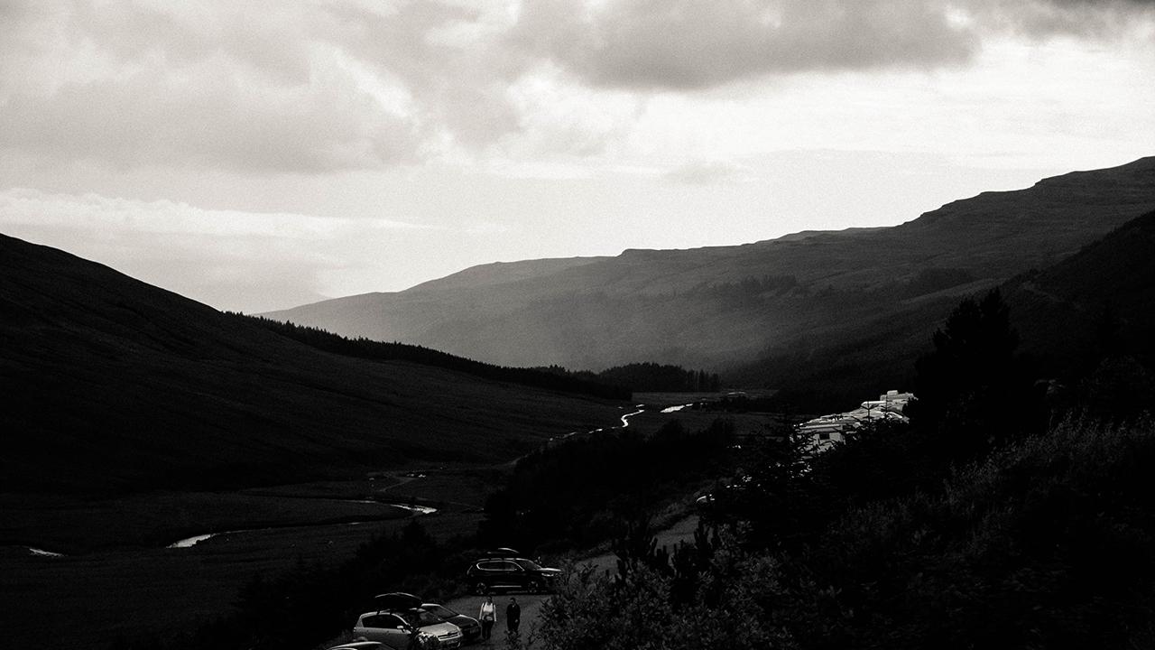 Scottish highlands landscape