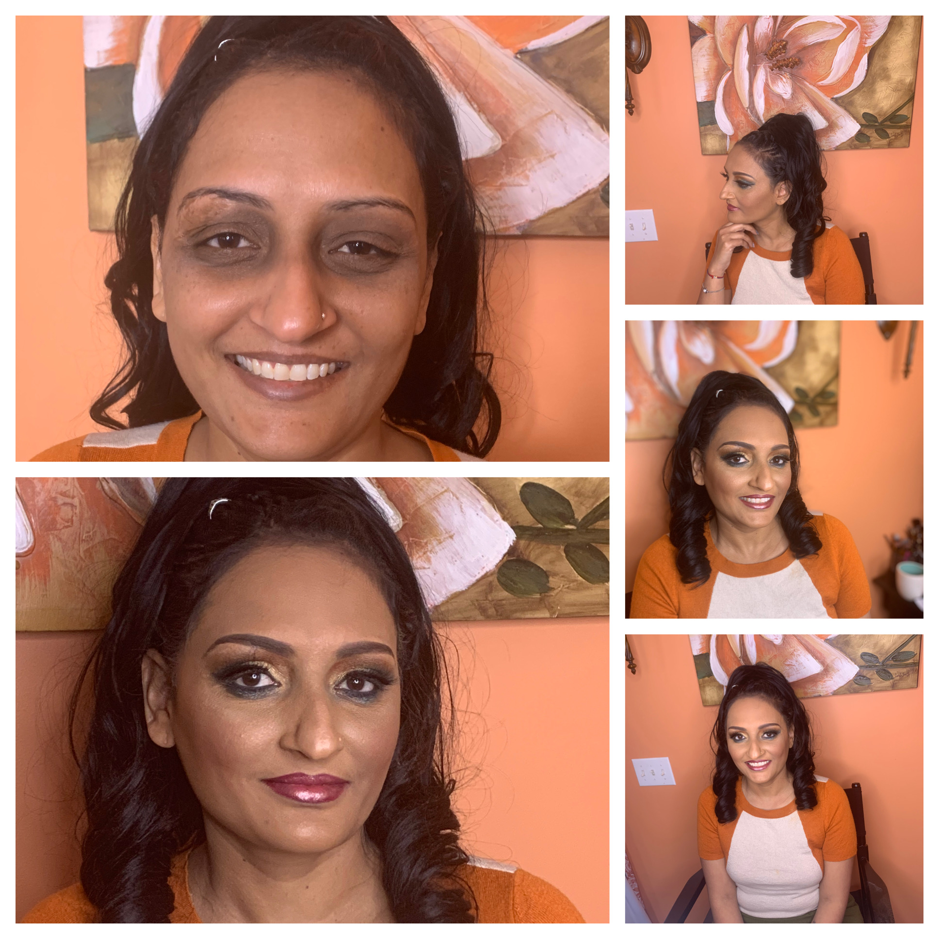 before and after makeup session