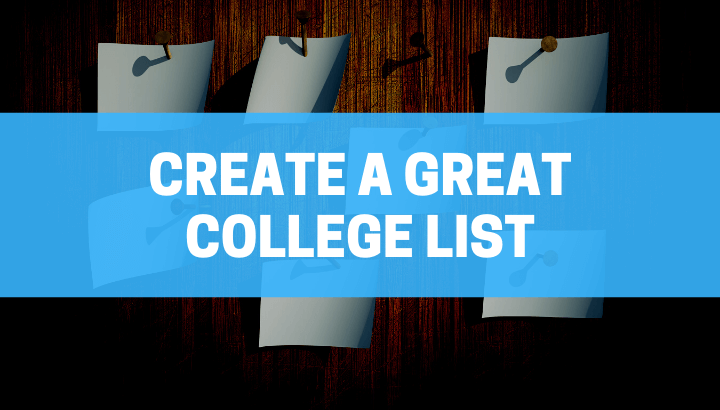 Created a Great College List