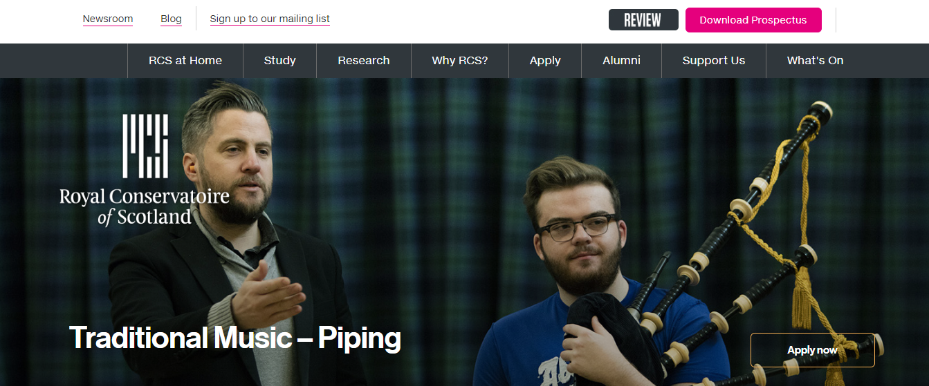 Royal Conservatoire Of Scotland homepage