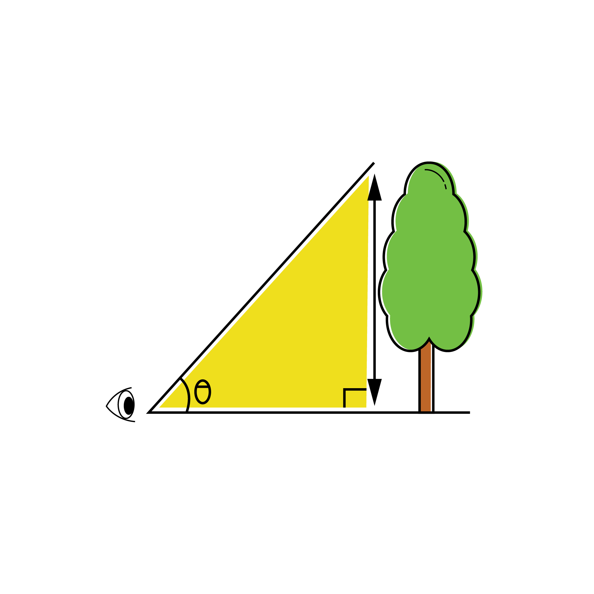 """The word TRIGONOMETRY is Greek; tri means three, gon means angle and meter means to measure. Combining all these three words, we get, """"three angle measure"""". The logic behind this is that trigonometry involves the measurements inside a triangle, which has three angles."""
