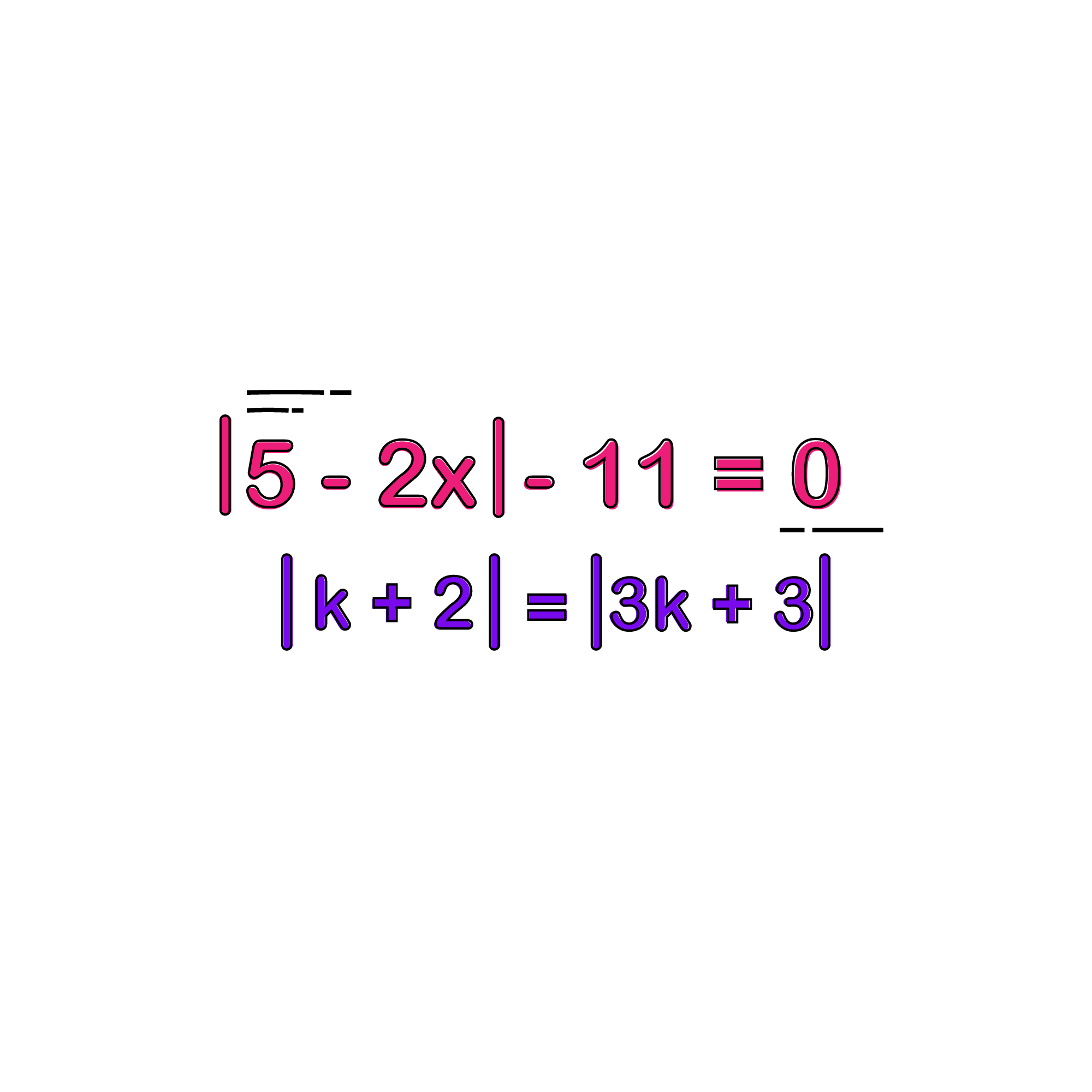 The Absolute Value of a number is its distance from zero (on the number line). Thus, an absolute value is always positive. We indicate absolute value by putting two bars around the number.