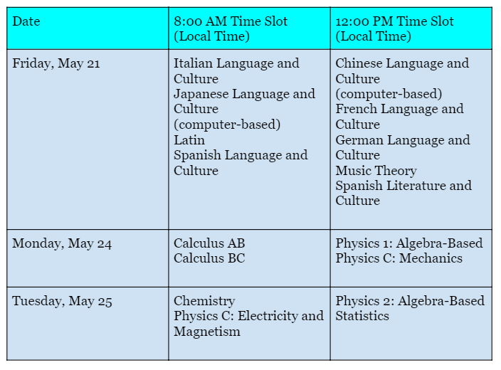 Administration 2 AP Schedule - 2
