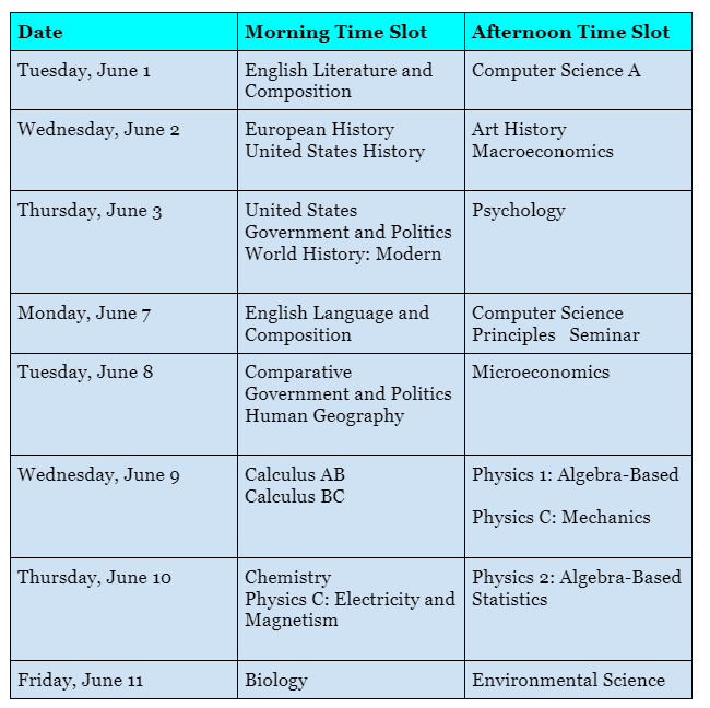 Administration 3 AP Schedule - 1