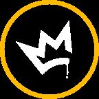 Icon king crown yellow white