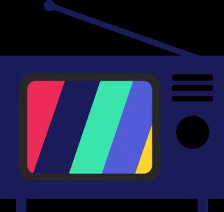 multicolor tv icon