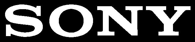 sony logo white