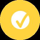 A checkmark inside a circle