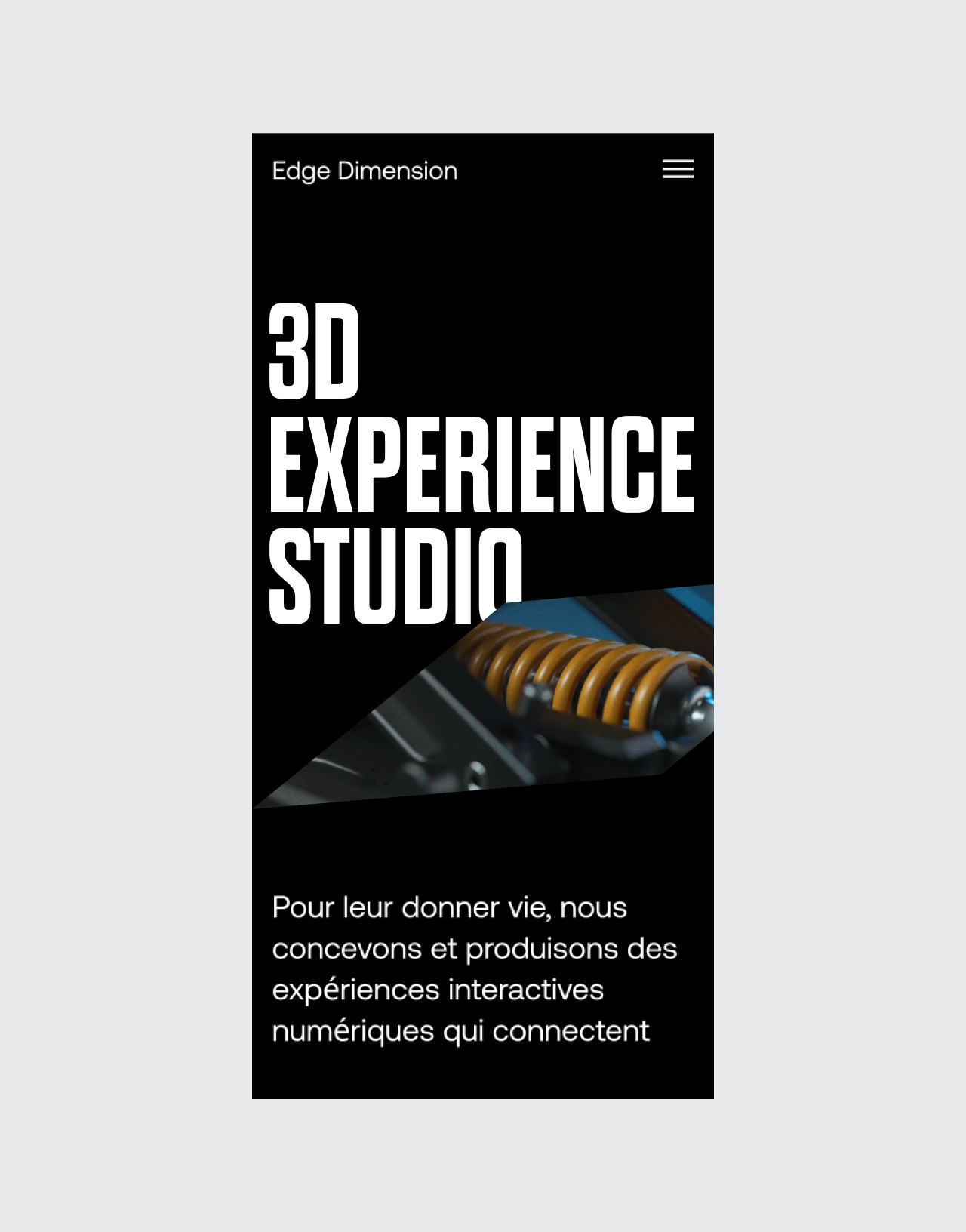 Edge Dimension mobile website