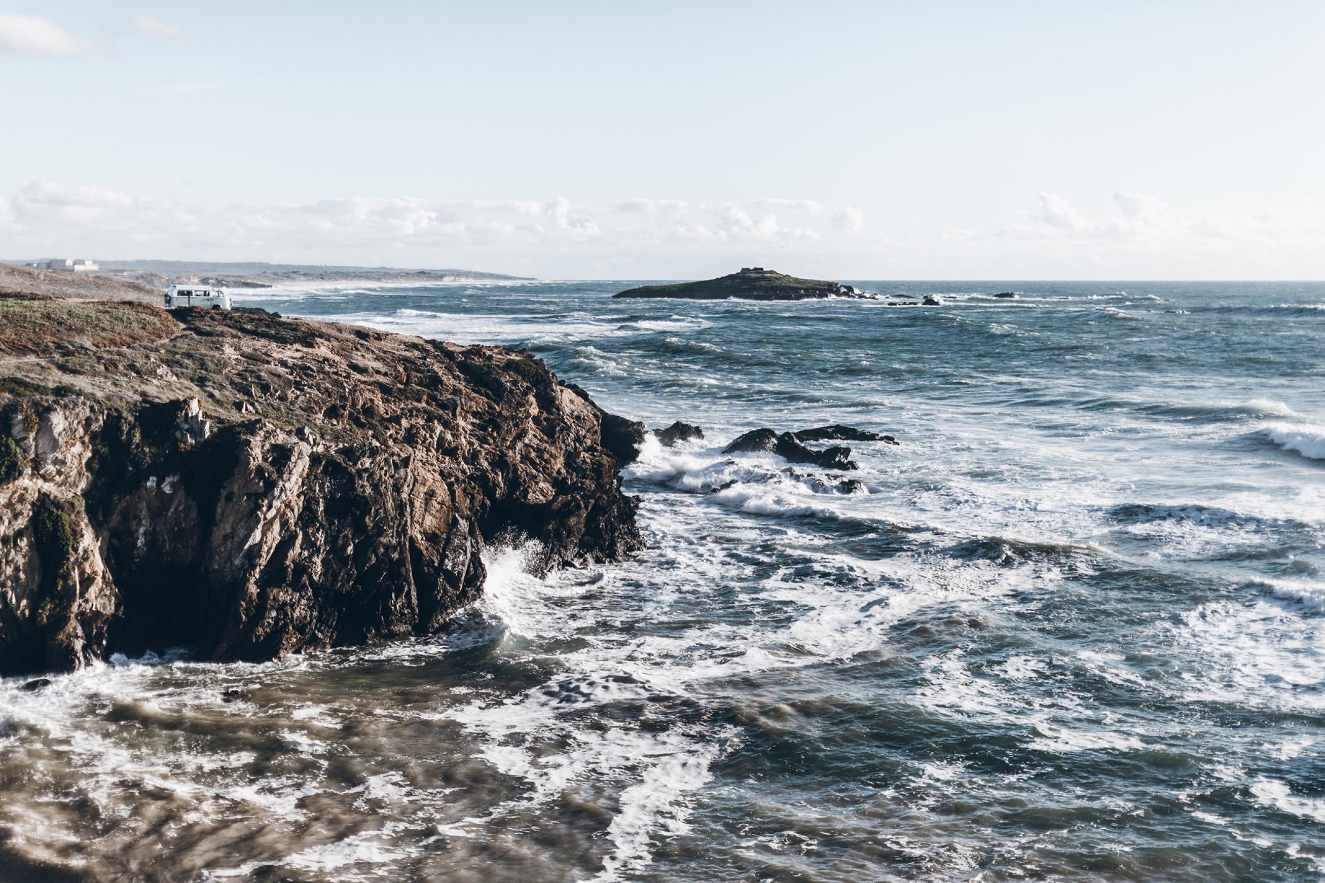 Beach coastline portugal