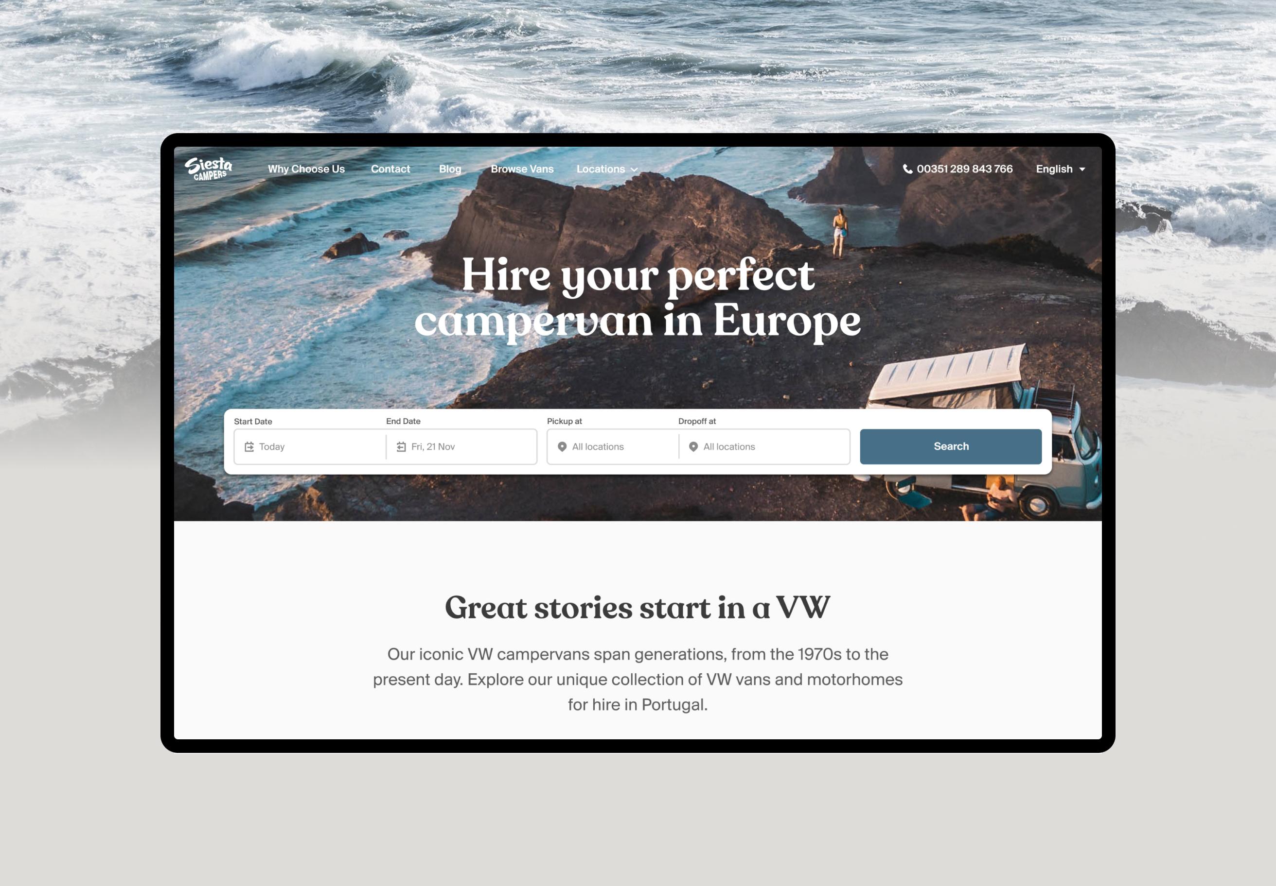 Siesta Campers Website