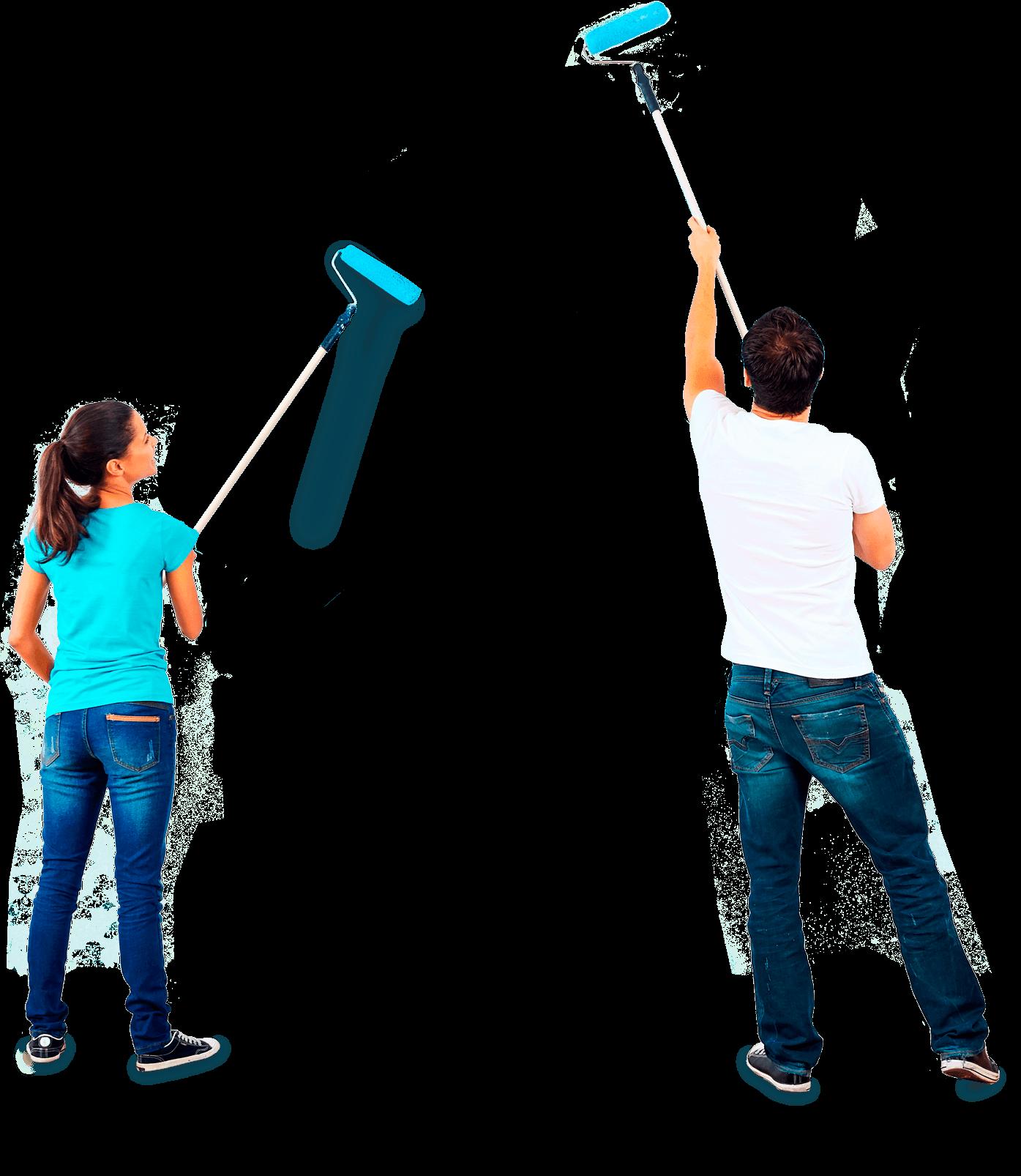 pareja-pintando