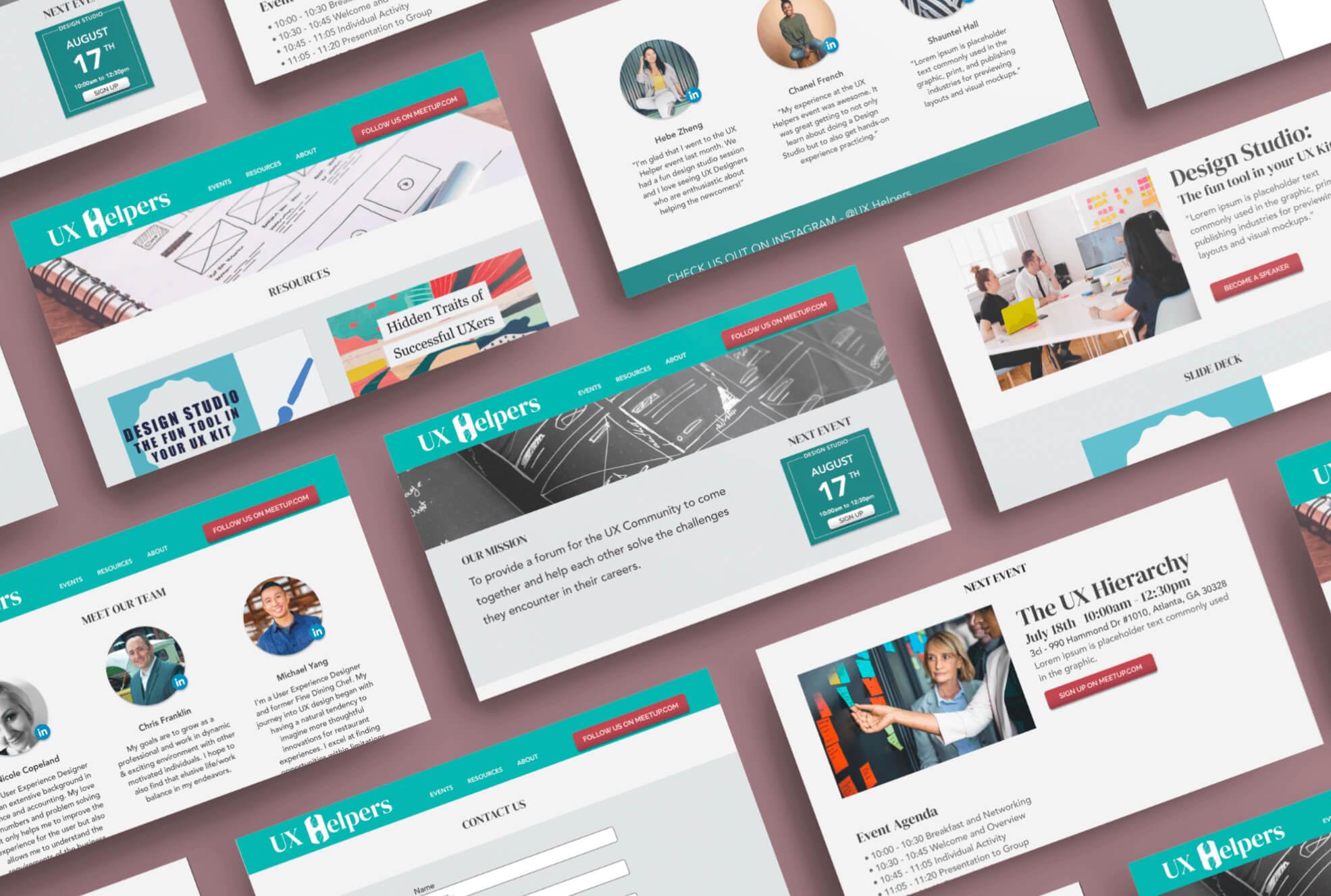 UX Helpers website collage