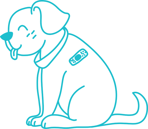 cartoon of dog being cared for