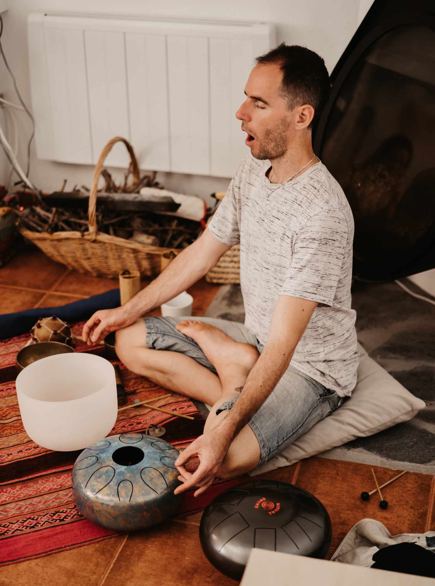Sound bath session