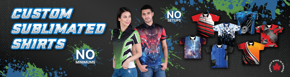 Custom sublimated shirts banner