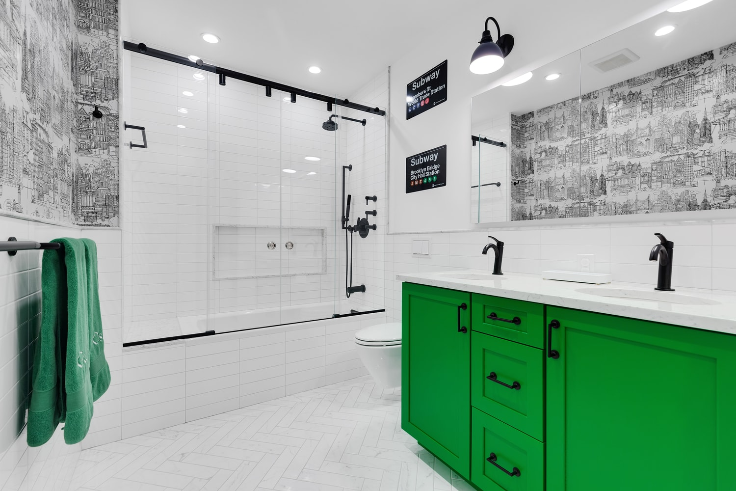 The Bold Personality Of Our White Subway Tile Bathroom Design Gallery Kitchen And Bath