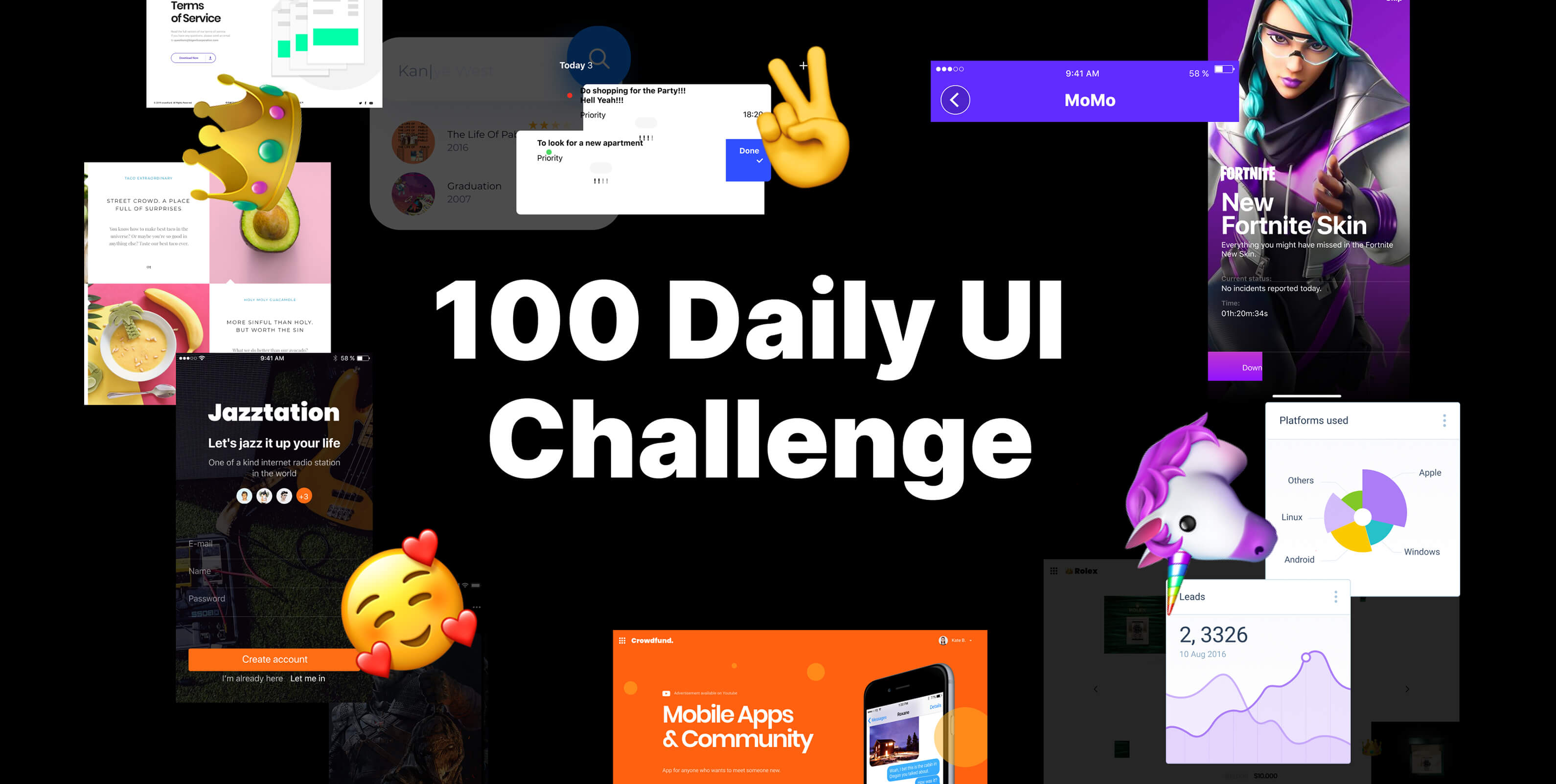 100 Daily UI Challenge Library