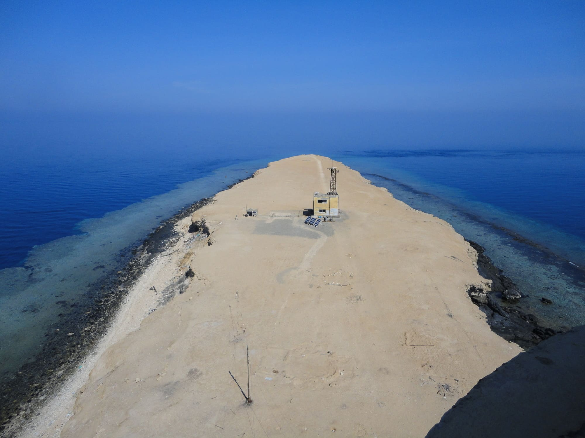 A view from the lighthouse on the Brother Islands, Egypt