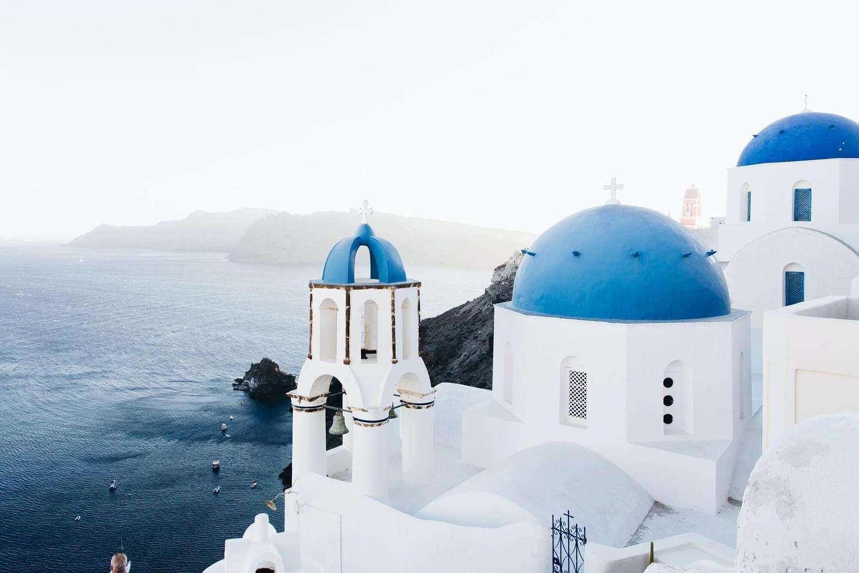 A scenic view of Santorini, Greece