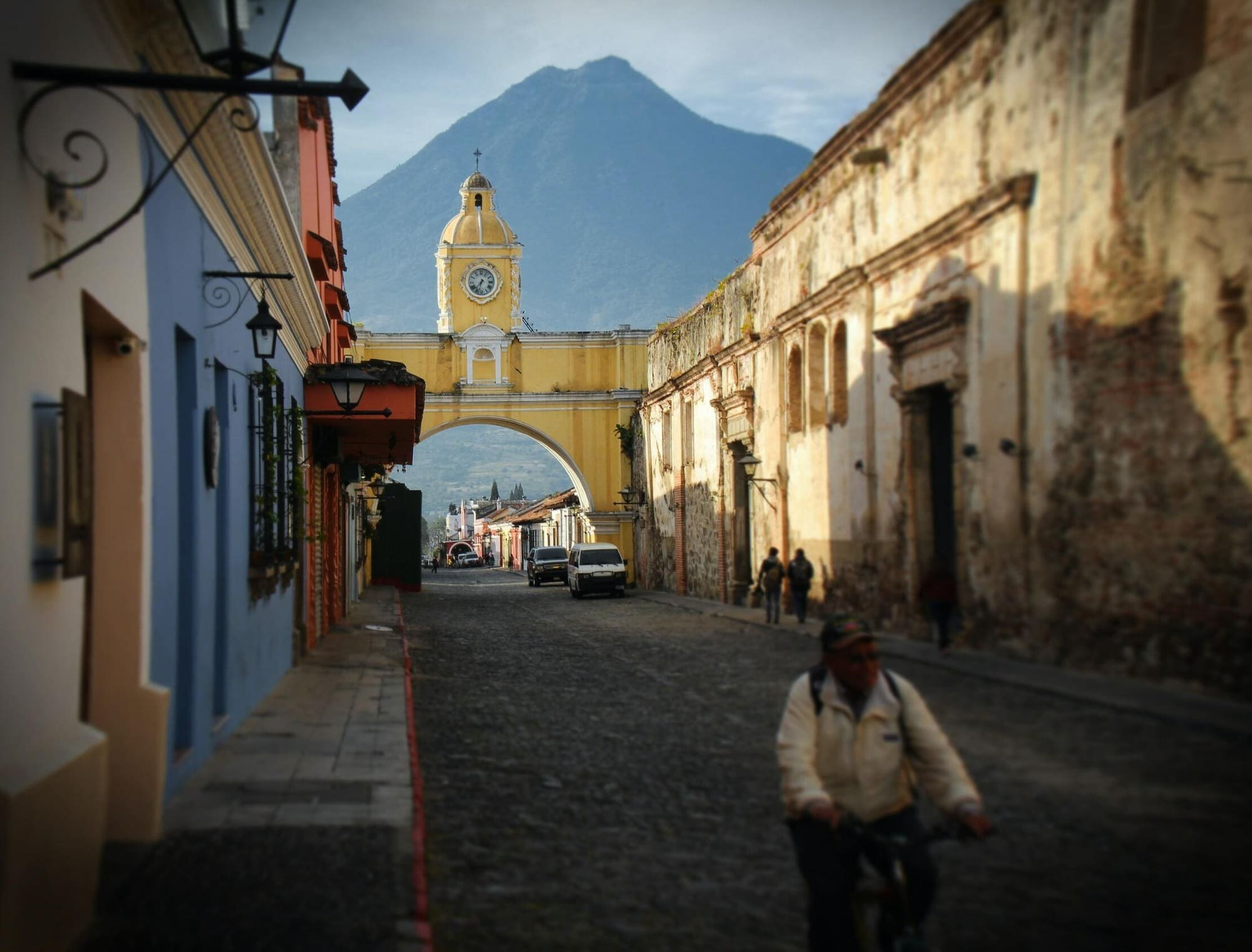 The city Anitgua, Guatemala, is on the list of UNESCO of world heritage sites.