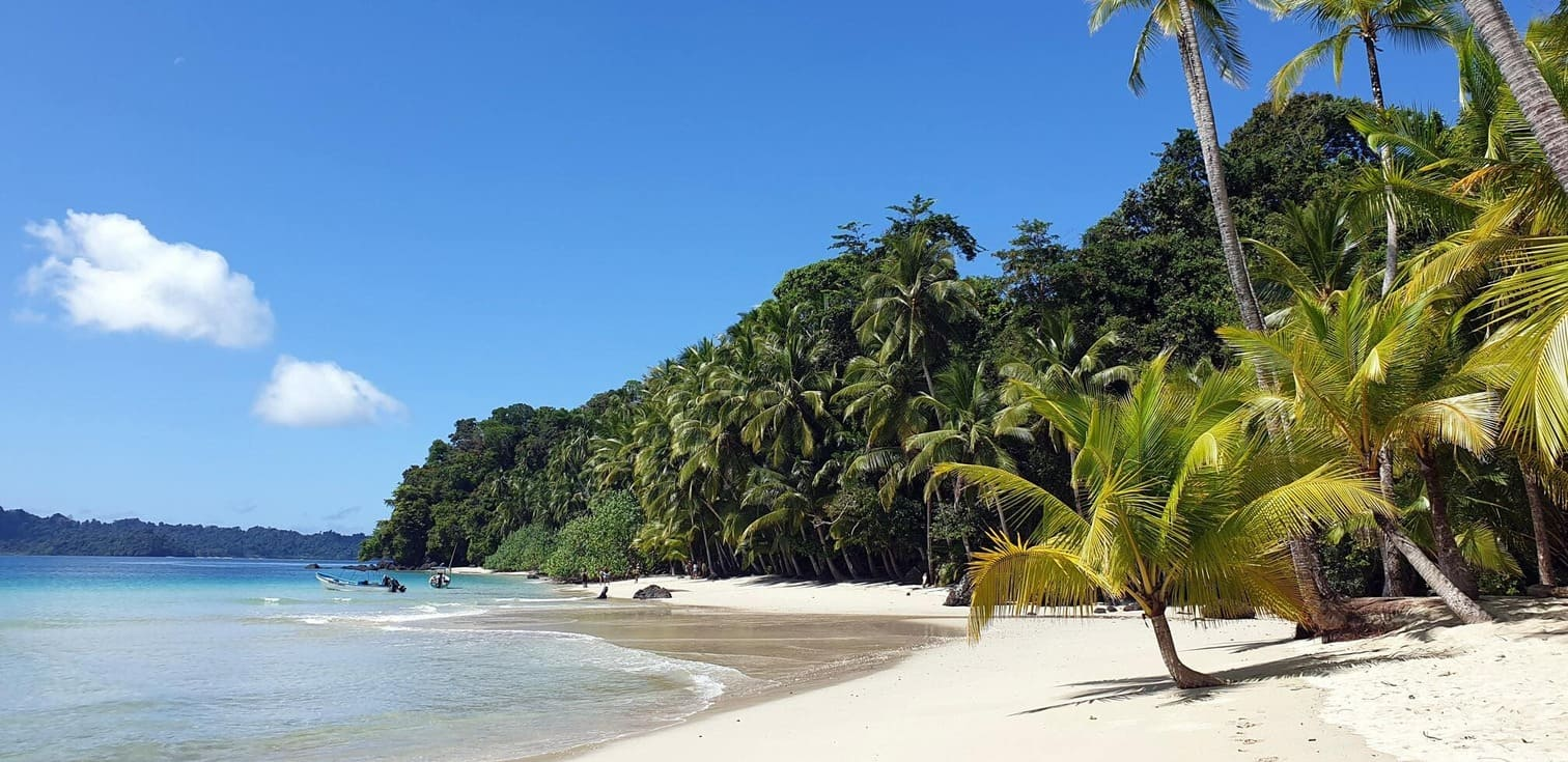 A view of a beach on Coiba Island, Panama