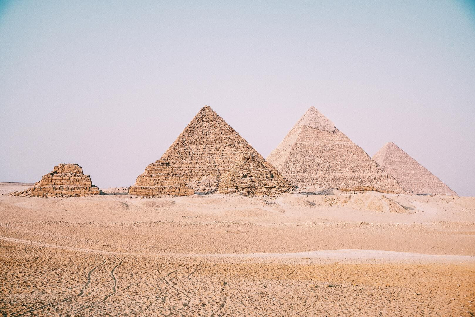 A scenic view of the pyramids in Egypt