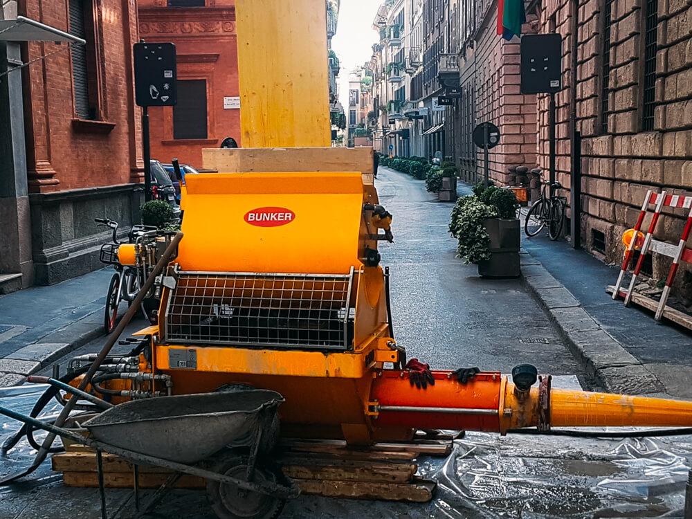 Belotti macchine edili, interventi, macchinari in opera.
