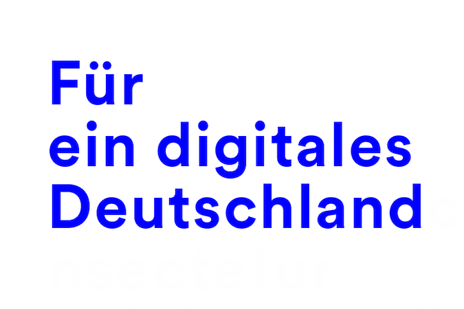 The slogan of the Digital Service 4Germany: For a digital Germany.