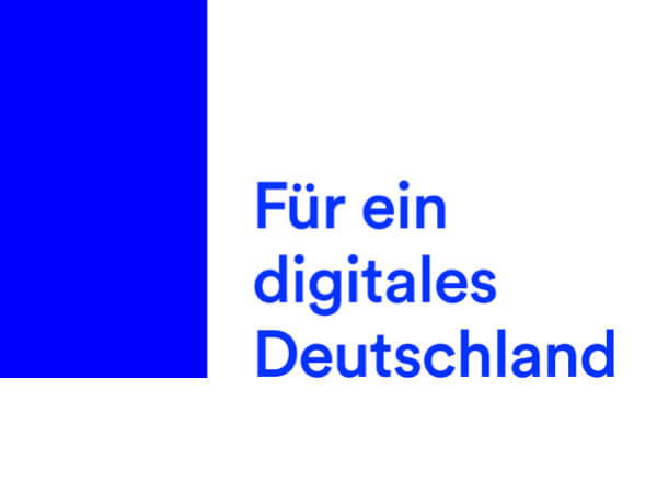 The slogan of the DigitalService4Germany in German: For a digital Germany.