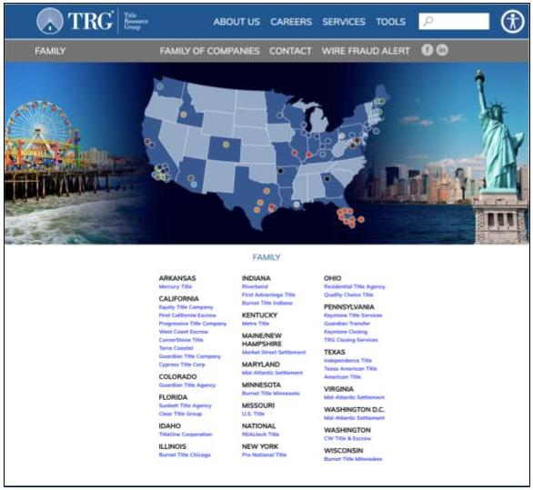 Title Resource Group national coverage chart