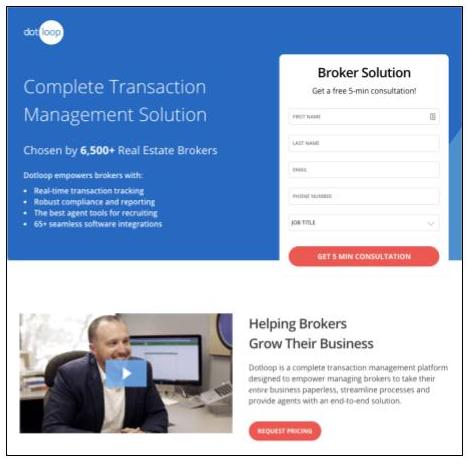 Dotloop feature overview for real estate brokers
