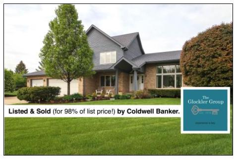 The Glocker Group just sold real estate announcement