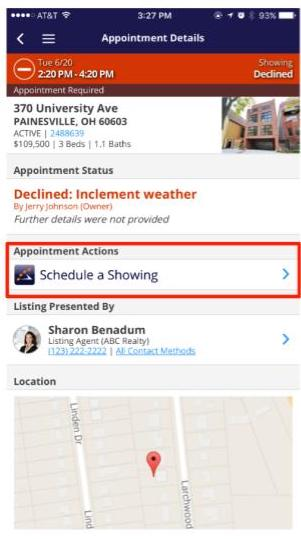 ShowingTime showing schedule tool