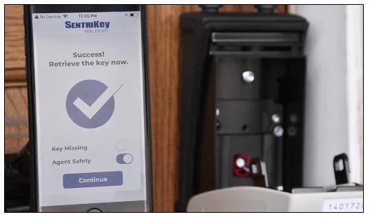 SentriLock smart lockbox app view