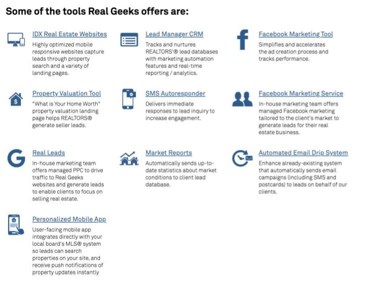 Real Geeks feature list