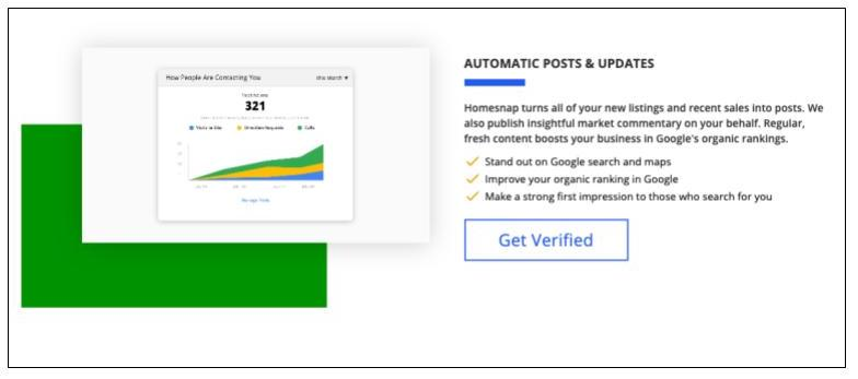 HomeSnap Pro+ features for Google Search Engine Optimization