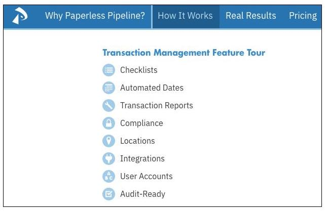 Paperless Pipeline features focused on transaction management